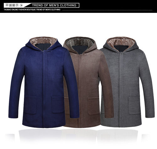2015 British men's winter coat long woolen coat Mens wool coat coat(China (Mainland))