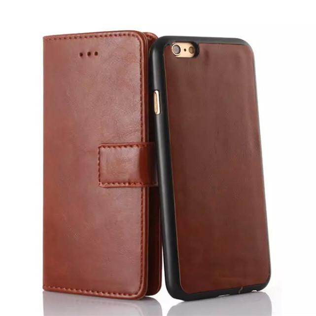 Quality soft leather case for iphone 6 Man style cover Moveable back case for Iphone 6 Wallet Support phone case Free shipping(China (Mainland))
