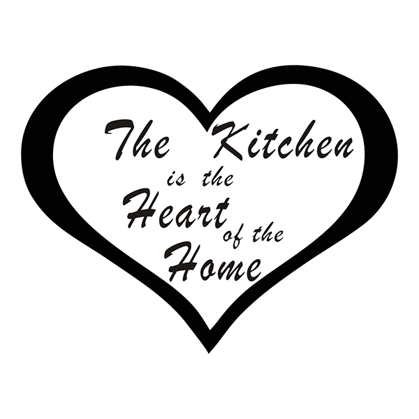 JJRUI Home Decor The Kitchen Room Heart Of the Home Wall Art Stickers Wall Decals 21 COLOUR 11.8x9.1in(China (Mainland))