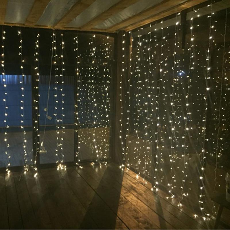 3Mx2M 192leds icicle led curtain string fairy light 192bulb Xmas Christmas Wedding Out home ...