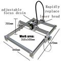 2500mw DIY laser machine laser engraving machine cutting plotter 2500mw mini CNC laser engraver Engraving area