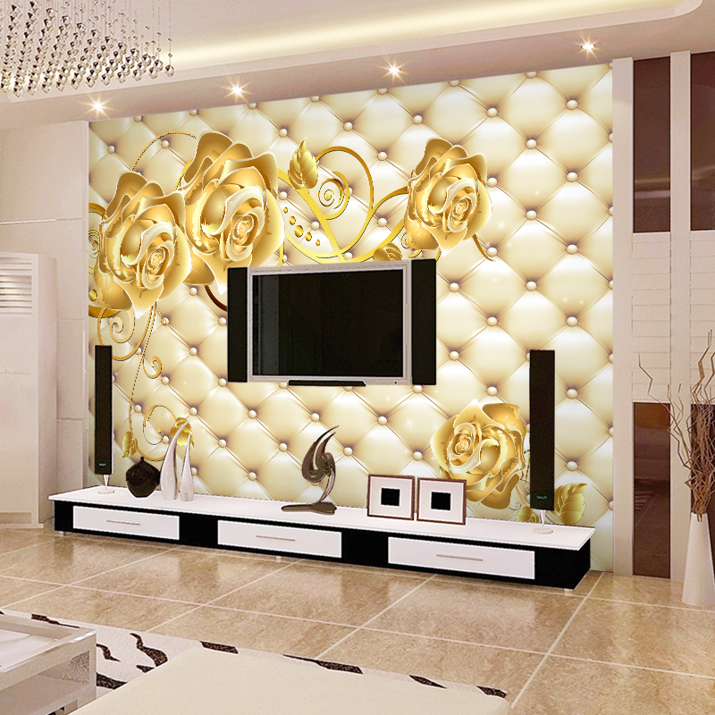 continental stereo 3d soft wallpaper living room bedroom tv simple and