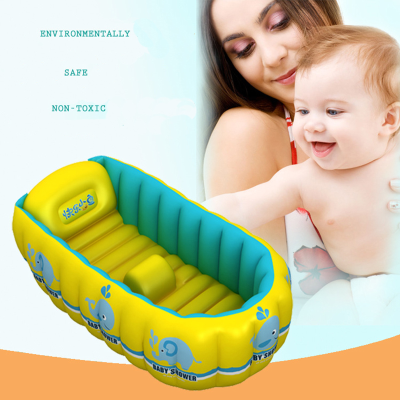 portable inflatable baby bath 0 3 years old kids bathtub. Black Bedroom Furniture Sets. Home Design Ideas