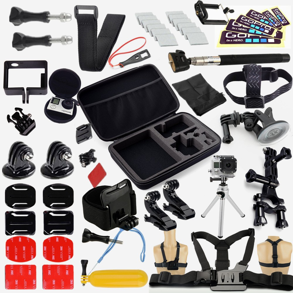 GoPro Accessories Family Kit GoPro accessories set GoPro accessories package for GoPro HD Hero 4 3+ 3 2 1 Free Shipping<br><br>Aliexpress