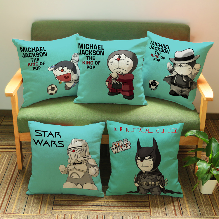 Cartoons Star Wars doraemon white soldiers pattern printing luxury home decoration outdoor Car sofa seat cushion cushions pillow