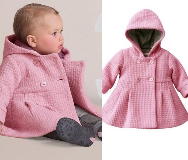 Бесплатная доставка новый девочка пальто чистый розовый теплая зима детей и пиджаки траншеи моды дети одежда оптом и в розницу