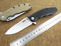 New tactical folding knife outdoor camping hunting survival pocket knife D2 blade G10 handle knives EDC
