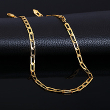 New fashion Chain Necklaces 18K Stamp men women s Real Gold Plated necklace Free shipping necklace