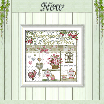Home life roses flowers decor chinese painting 11CT Counted Print on Canvas DMC 14CT Cross Stitch kits Embroidery Set Needlework