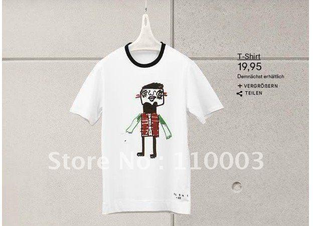Mar Ni hand-drawn cartoon dog t-shirt B045