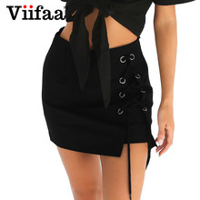 Buy Viifaa Sexy Summer Girls Women 2017 Lace Skirts Femme Black Saias High Waist Woman Bodycon Mini Skirt for $9.99 in AliExpress store