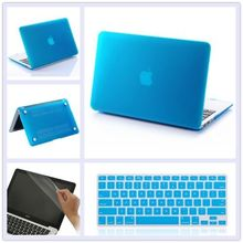 3in1 Rubberized Hard Cut-out Case Laptop Shell Cover + Keyboard Cover+LCD film For Macbook Pro 15 with Retina A1398 with Logo