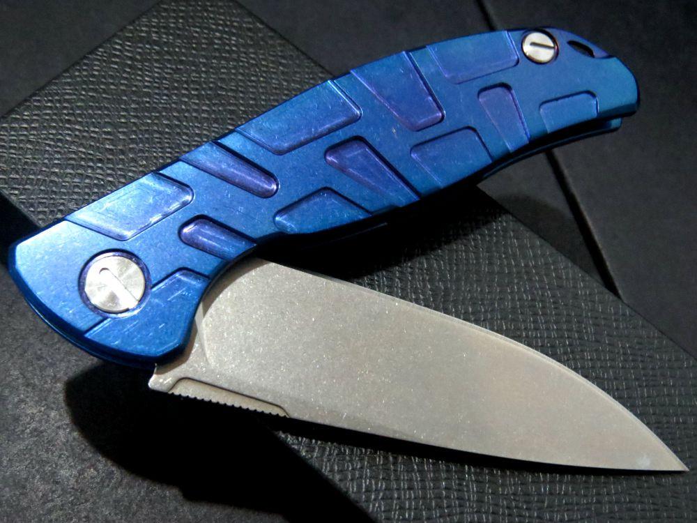 Buy High quality Newst F95 bearing Flipper folding knife D2 blade TC4 Blue Titanium handle outdoor camping hunting pocket  knife cheap