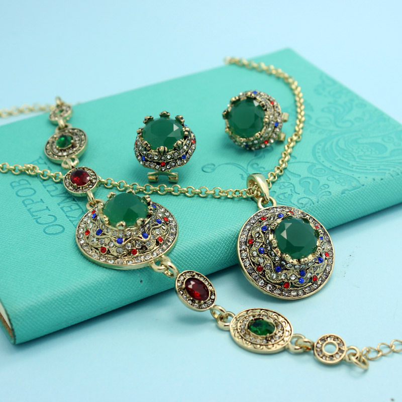 Perfecto Pinarello Dogma Resin Vintage Jewelry Sets Collar Women Tin alloy Turkishe Necklace Earing Set Luxury Turkish Jewelora(China (Mainland))