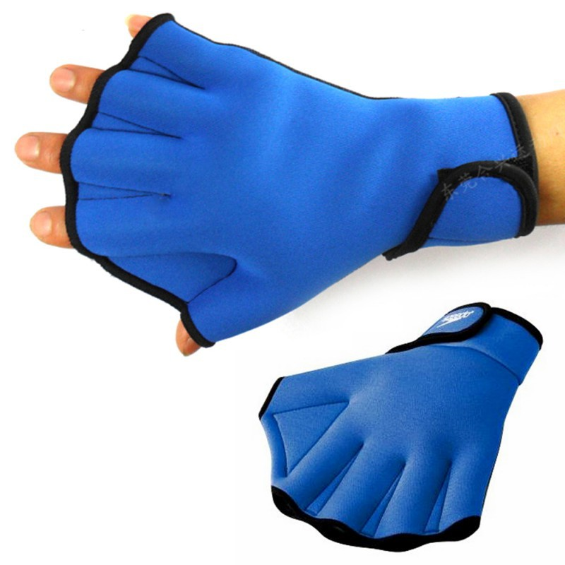 1 Pair Sphere Webbed Swim Gloves Surfing Swimming Sports