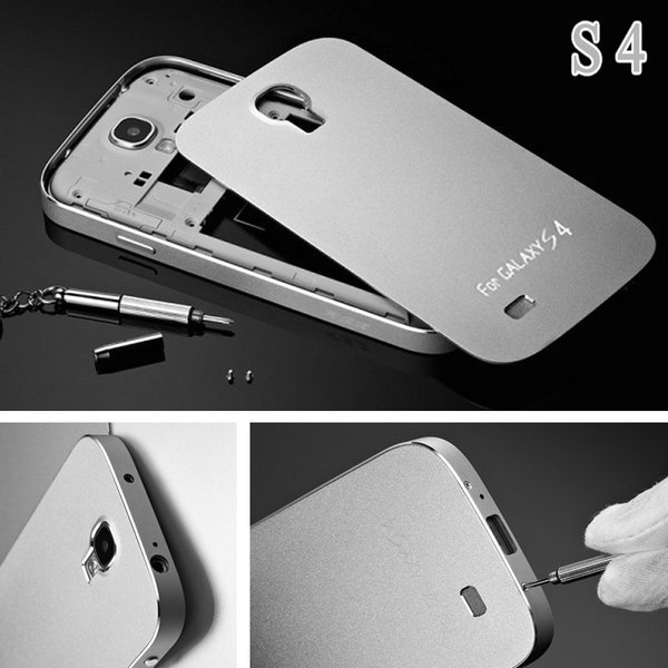 Cool Luxury Full Aluminum Case for Samsung Galaxy S4 I9500 with Screw Matte Mobile Phone Bag Metal Cover Battery Housing Yotone(China (Mainland))