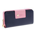 Fashion Women Leather Wallet Women Clutch Bag Hasp Wallet Long Zipper Purse Women Pumping Multi card