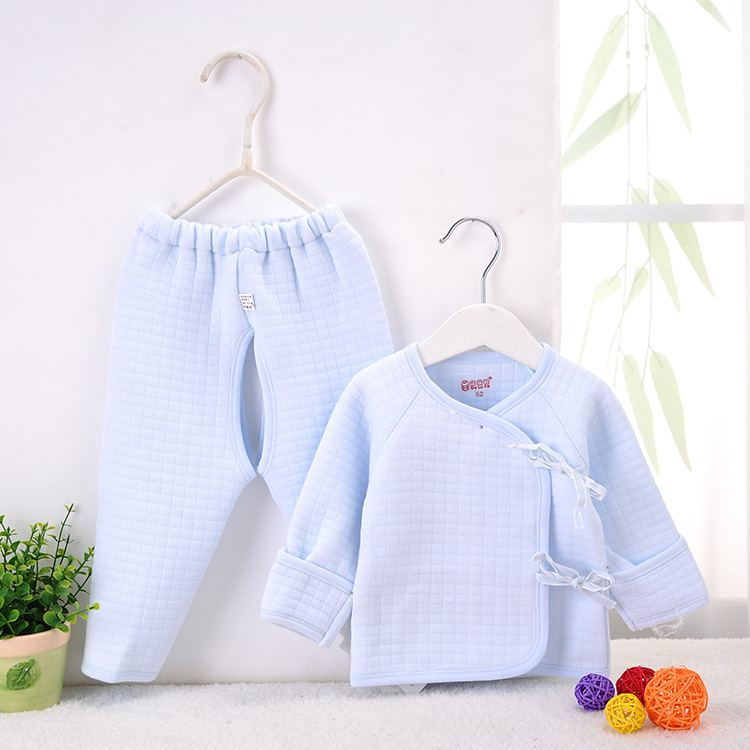 baby warm underwear suits lacing thickening spring autumn winter cotton padded clothes paragraph monk - dewangzhan store