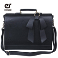 ECOSUSI New Fashion Women PU Leather Handbags Vintage Pu Leather Messenger Bags Shoulder Business Laptop Messenger