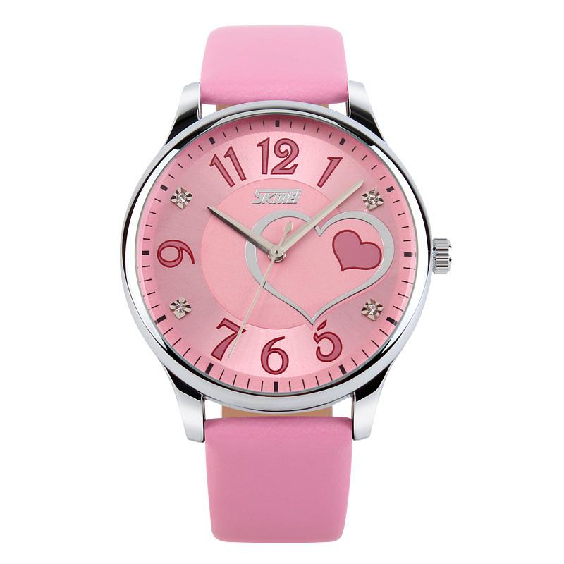 Fashion Watch Women SKMEI Top brand luxury Casual quartz watch leather Ladies Dress wristwatches relojes mujer