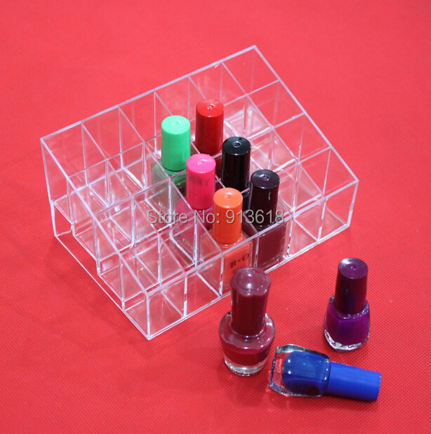 2015 NEW Clear Acrylic 24 Lipstick Holder Display Stand Cosmetic Organizer Makeup Case - PuRiKa store