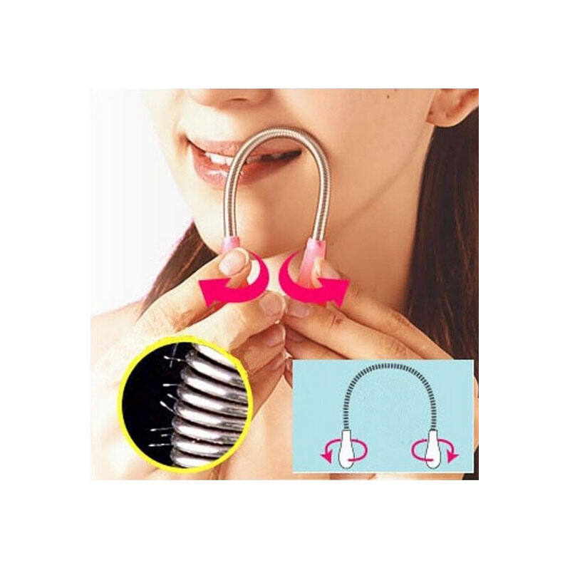 2Pcs Spring Rolled Facial Hair Removal Threading Hair Removal Make Up Tool Women Face Care Health Beauty Epilator Shaving Makeup