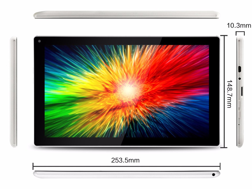 Android Tablet Pc 10 Inch 1Gb 8Gb Quad Core Tablets Pc 1024600 High Definition Lcd Dual Cameras Nice Aoson M1016C-W Tab Pc (1)