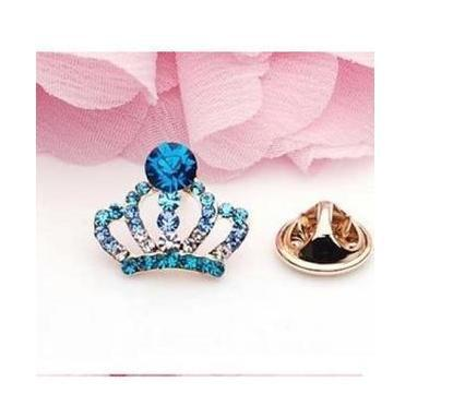 High Quality!Garment Accessories Jewelry Collar Decoration Shirt Austrian Crystal Crown Brooches Pin A016 - China's export trade store