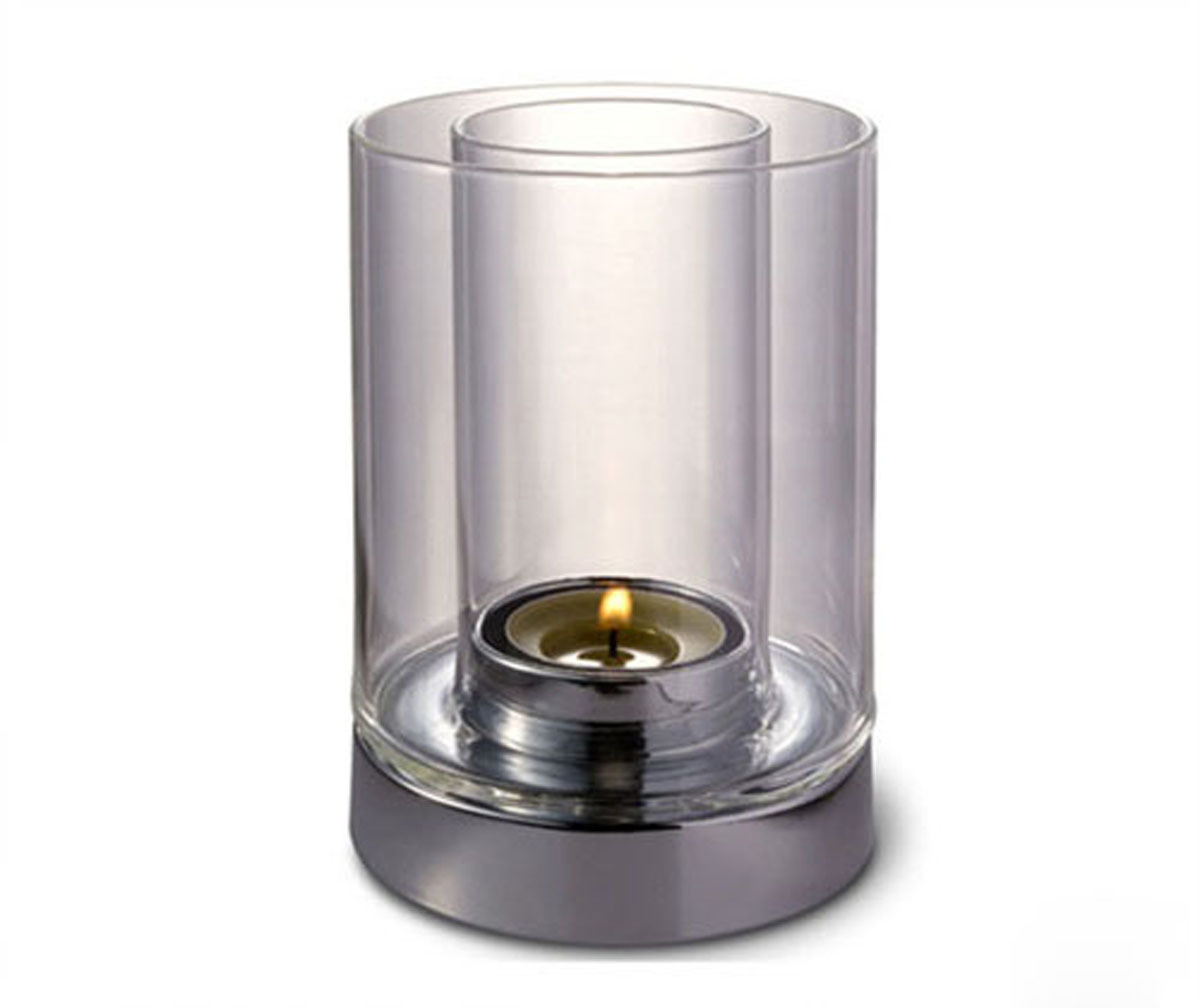 Glass pillar candle holders ebay partylite hurricane for Kitchen cabinets lowes with candle holder tree