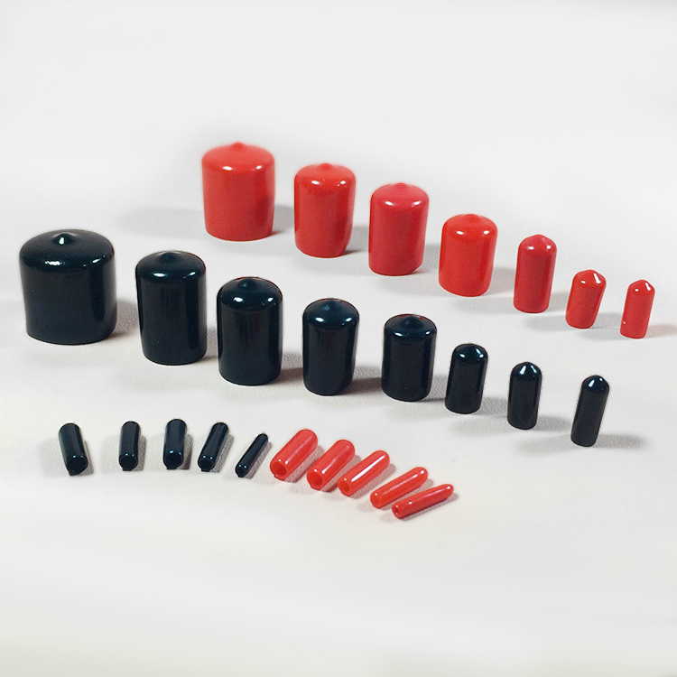22 24 25 26 28 30mm Round pipe end vinyl plastic cap cover Black tube plastic dust proof tip thread protector Push-On Pliable(China (Mainland))