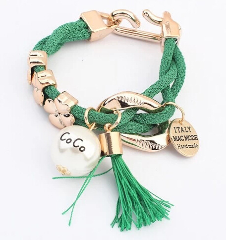 2015 Brand Vintage Fashion Statement Leather Bracelet Women New Retro Pearl Charm Bracelets & Bangles Jewelry Y8919 - XY Company (Min order $8 store)