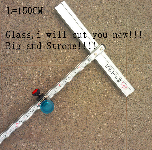 150cm Length T Type Aluminum Alloy Glass Cutter Tool freeshipping<br><br>Aliexpress