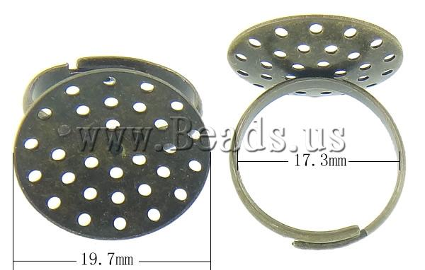 Free shipping!!!Brass Sieve Ring Base,Brand jewelry, antique bronze color plated, nickel, lead & cadmium free, 19.70x19.70mm