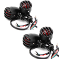 4x Black Bullet Motorcycle Turn Signals For Yamaha Suzuki Kawasaki BMW Harley Honda Shadow CB GS