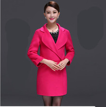 Fall 2015 new female in long straight high-end double-sided cloth coat pure manual wool coat