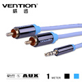 ice blue audios cables rca 3 5mm male to male aux video cable one point double