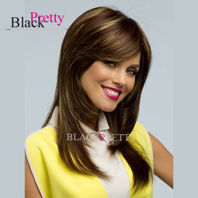 Long Straight Brown Wigs Synthetic Black Women Cheap Hair Heat Resistant  -  Beauty In A Box store