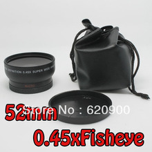 100% GUARANTEE  52MM 0.45x Soft Fisheye Wide Angle Macro Lens for Nikon D3200 D3100 D5200 D5100(China (Mainland))