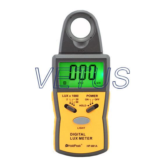0.1Lux~50,000Lux,1999 Display HP-881AS digital illuminance meter Lux Meter light meter tester gauge
