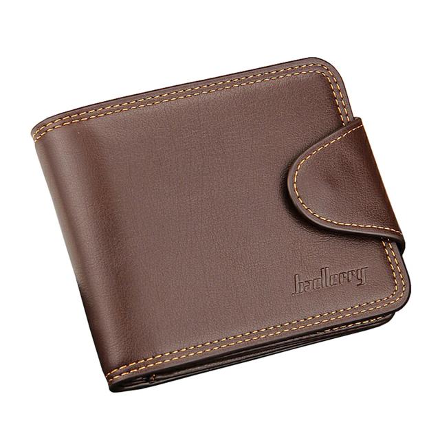 Высокая Quailtiy pu кожаный бумажник мужчины Засов известная марка человек кожаный ...