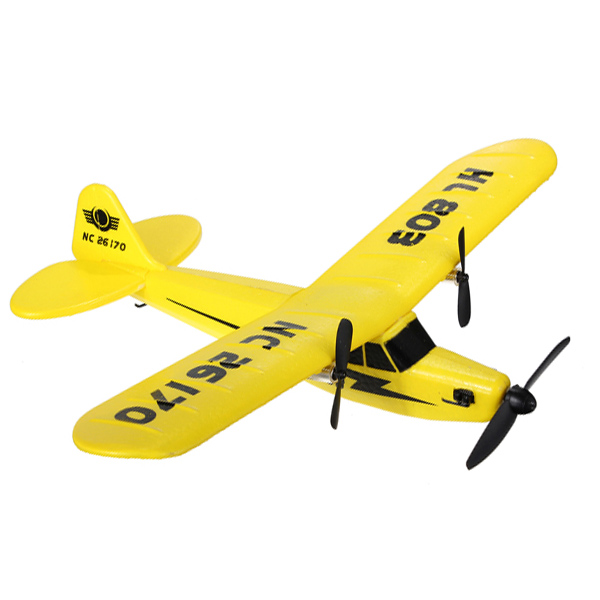 New Aircraft HuaLe HL803 2.4G Upgraded PIPER J3 CUB NC26170 RC Remote Control Airplane RTF<br><br>Aliexpress