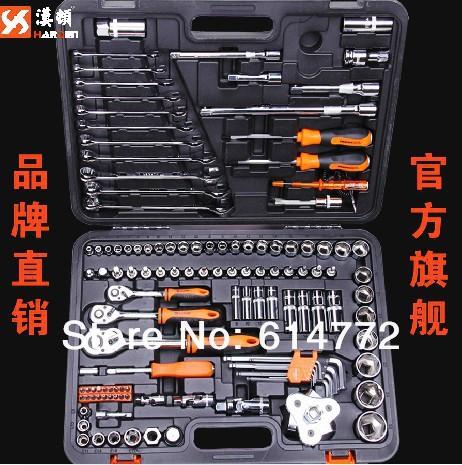 Industrial-grade auto sleeve tool kit combination machine mechanics wrench set set of repair kit(China (Mainland))