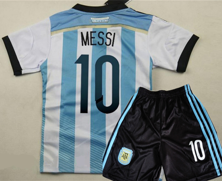 Cheap Clothes China Argentina Children Soccer Jersey Sports baby kids Football Kid Shirts Player Version MESSI 10 Baby Clothes(China (Mainland))