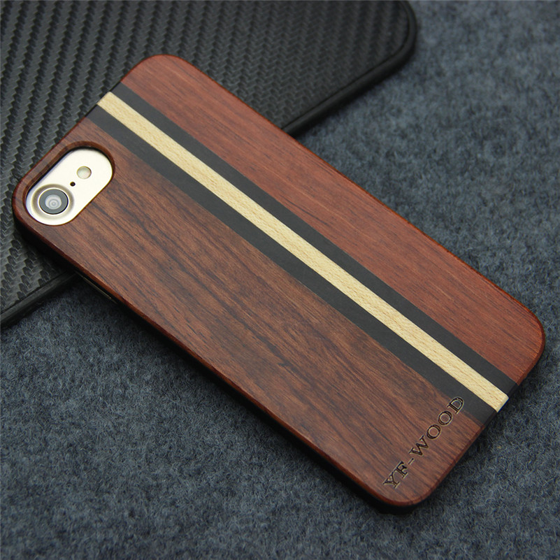 Wooden Cases for iphone 7 Case Real Natural Wood + PC Back Cover for Apple iPhone 7 Dirt-resistant Shock Proof Coque(China (Mainland))