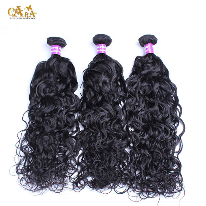 6A Filipino Virgin Hair Water Wave Hair Weave Bundles Wet and Wavy Curly Human Hair Extensions 3Pcs/Lot Rosa Hair Products