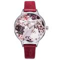 UK Brand Flower Face Trend Design Plating Case Women Watches Elegant Ladies Quartz Wrist Watch Leather