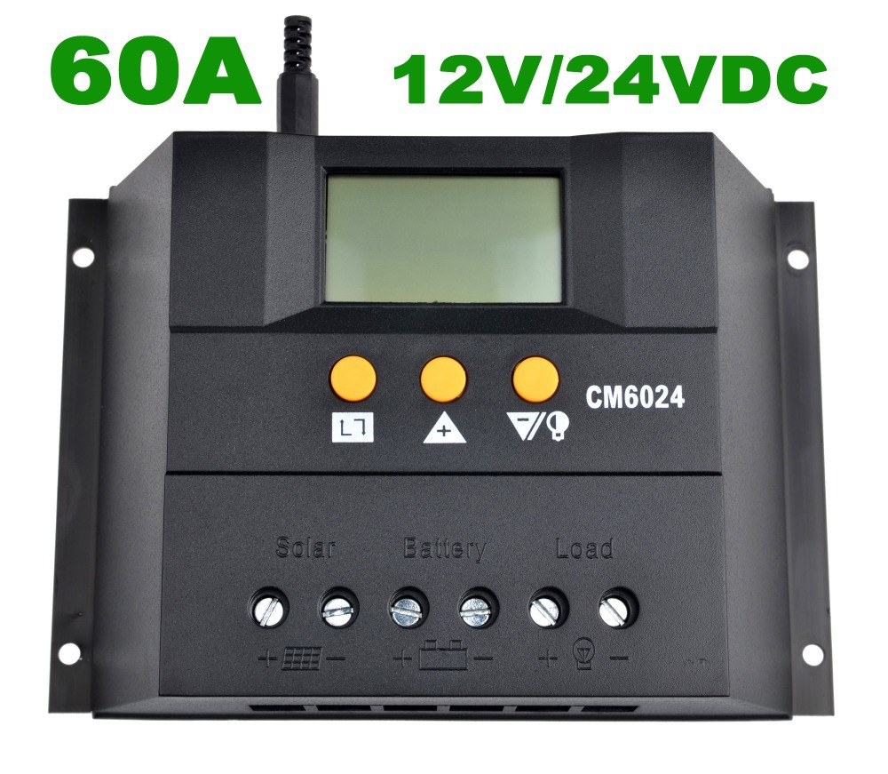 60A Solar controller,Battery Panel Charge Regulator 60A,PWM,12V/24VDC AUTO,with LCD display,Solar Charger(China (Mainland))