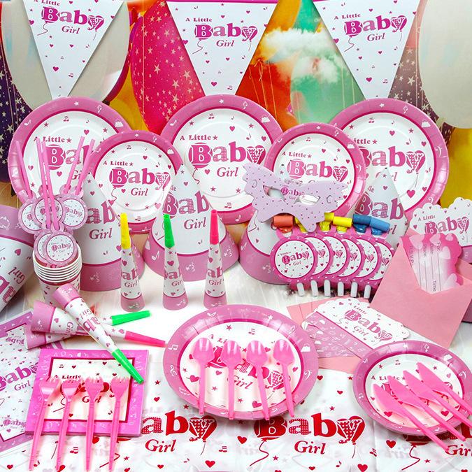 Wedding Decoration Navidad Children's Birthday Supplies Baby Girl 60pcs/set Luxury Packs free Ship - Super- mami clothing store