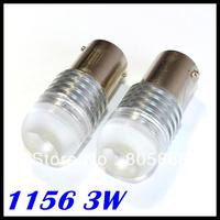 2pcs/lot 1156 BA15S High Power Super White SMD LED Projector Light Bulb 3W Car Stop Brake Signal Lights Bulb Lamps 12V