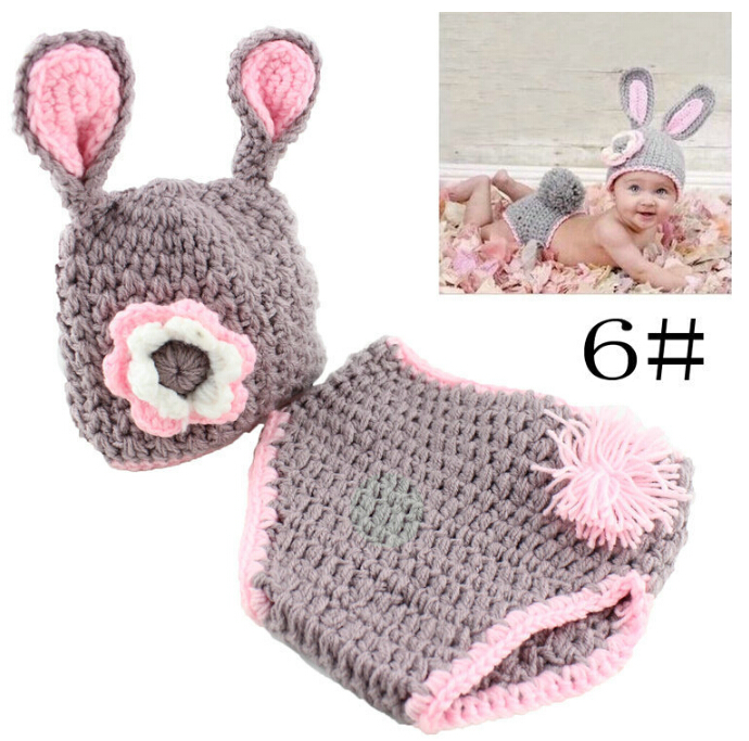New designer High quality soft cotton baby clothing newboren infant photography props accessories crochet outfits wholesale<br>
